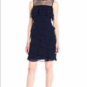 Adrianna Papell Tiered Sheath Dress size 8